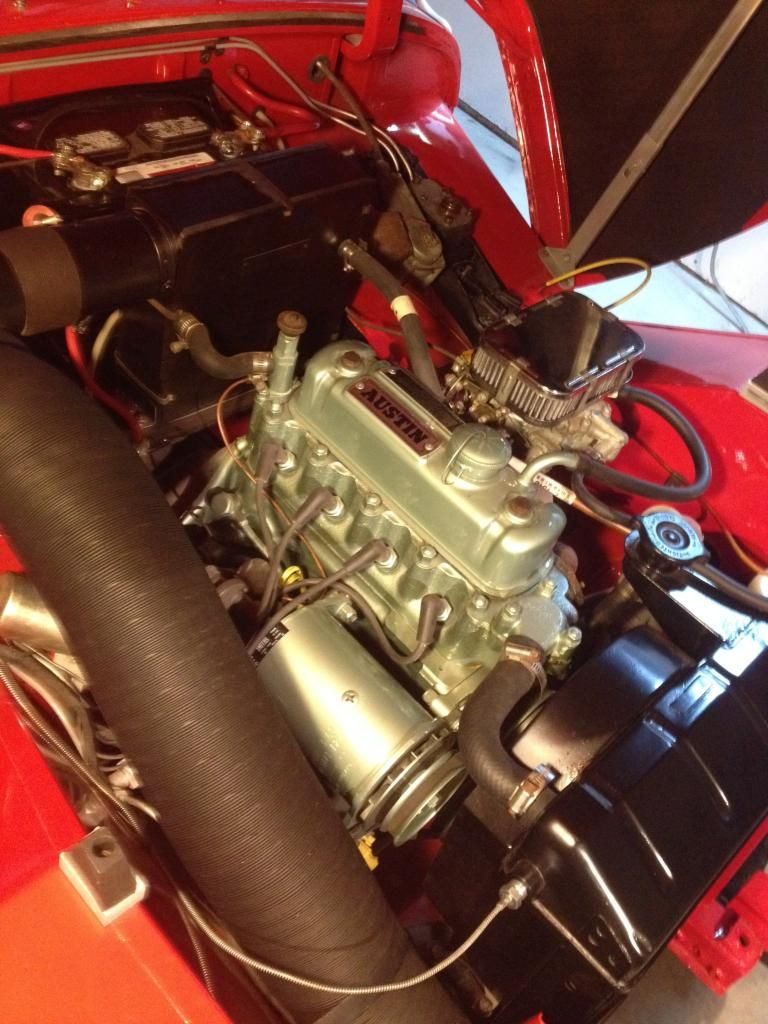 Clean engine bay austin healey sprite austin healey