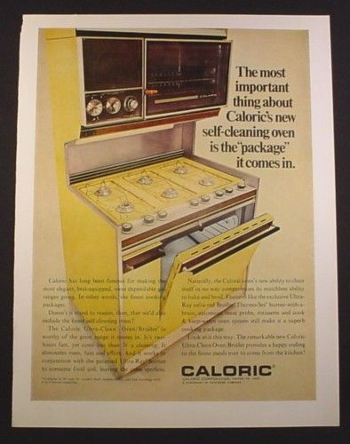 Caloric Ultra Clean Oven Broiler, Harvest Gold, Kitchen Appliance ...