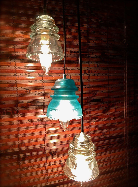 Glass Insulator Pendants Lampen Licht Lampe Beleuchtung