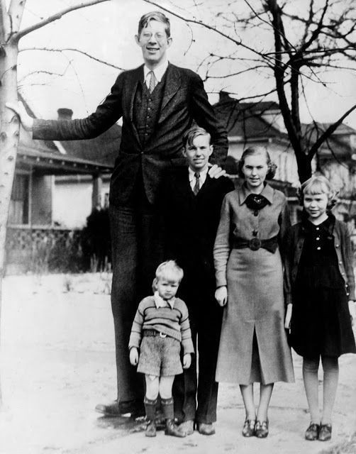 robert wadlow the world s tallest man in history with his brothers