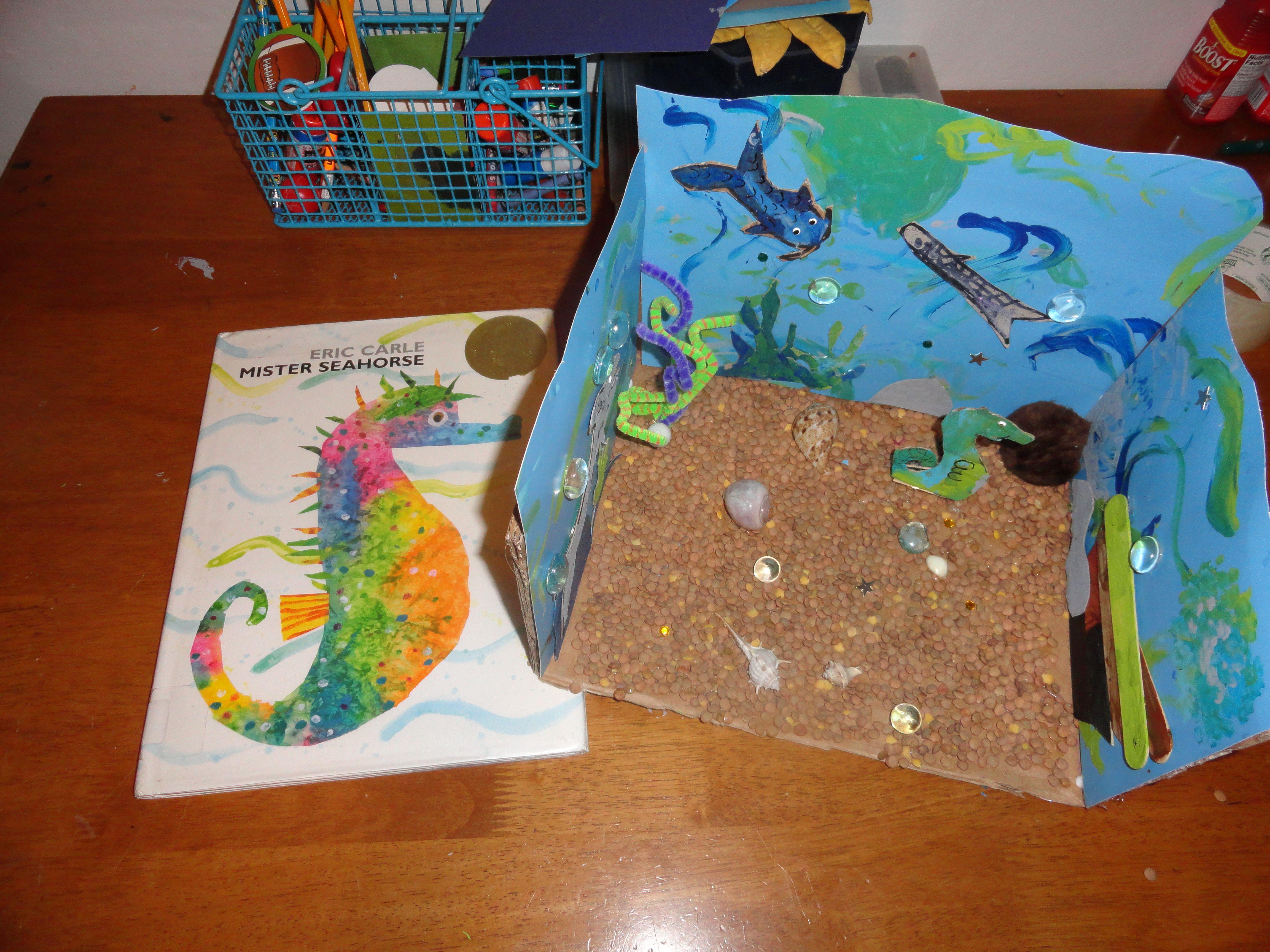 Mister Sea Horse Kids Craft Underwater Shadowbox