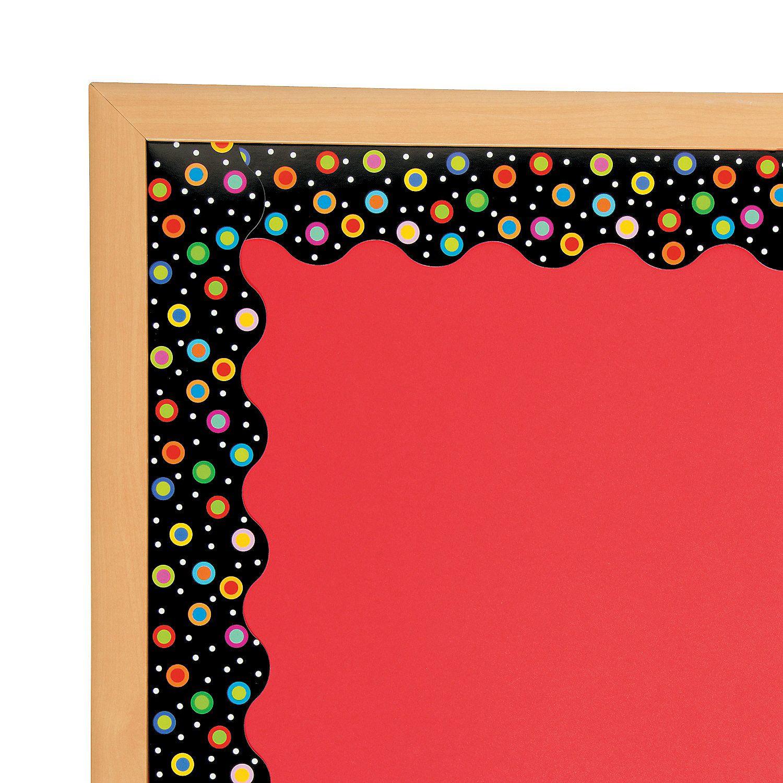 Dots+On+Black+Bulletin+Board+Borders+ +Orientaltradingcom