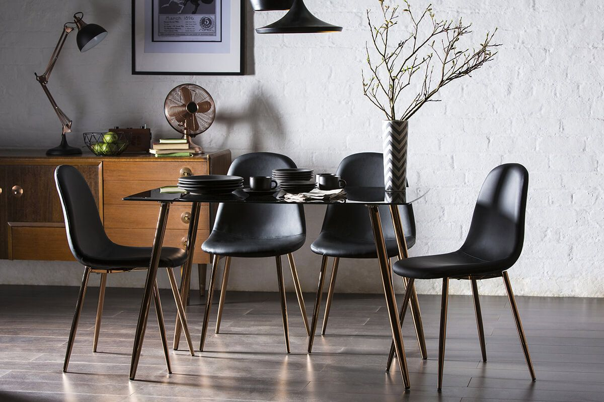 Horizon Black Glass Dining Table For Only At Furniture Choice