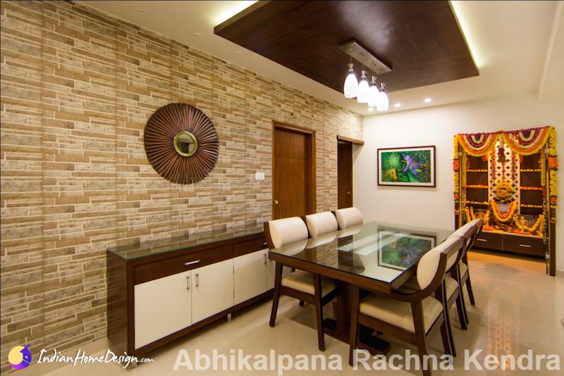 Attractive Dining Room Interior Design By Abhikalpana Rachna
