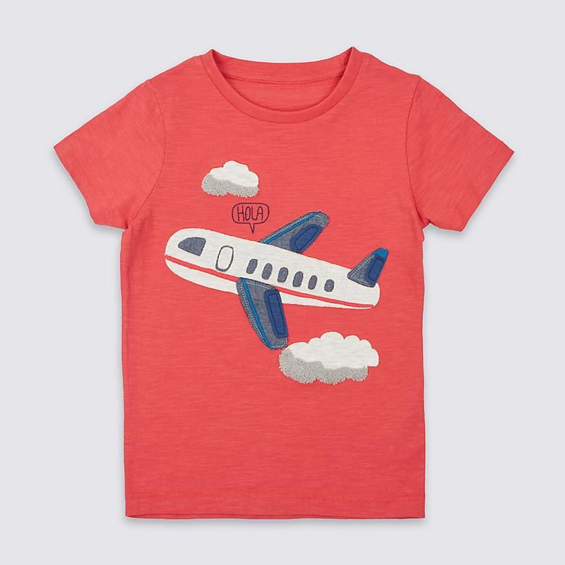 New Baby Boy 100/% Cotton Orange T-Shirt for Everyday by Little Maven