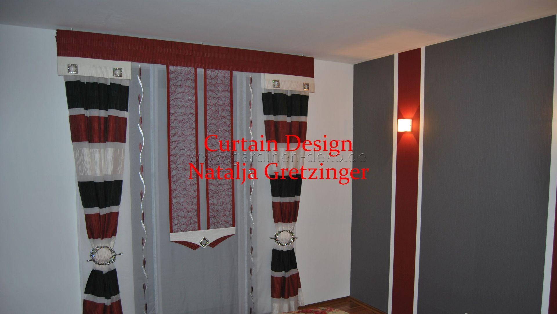 Geschmackvoller Schlafzimmer Vorhang In Den Farben Rot/schwarz/weiß    Http://