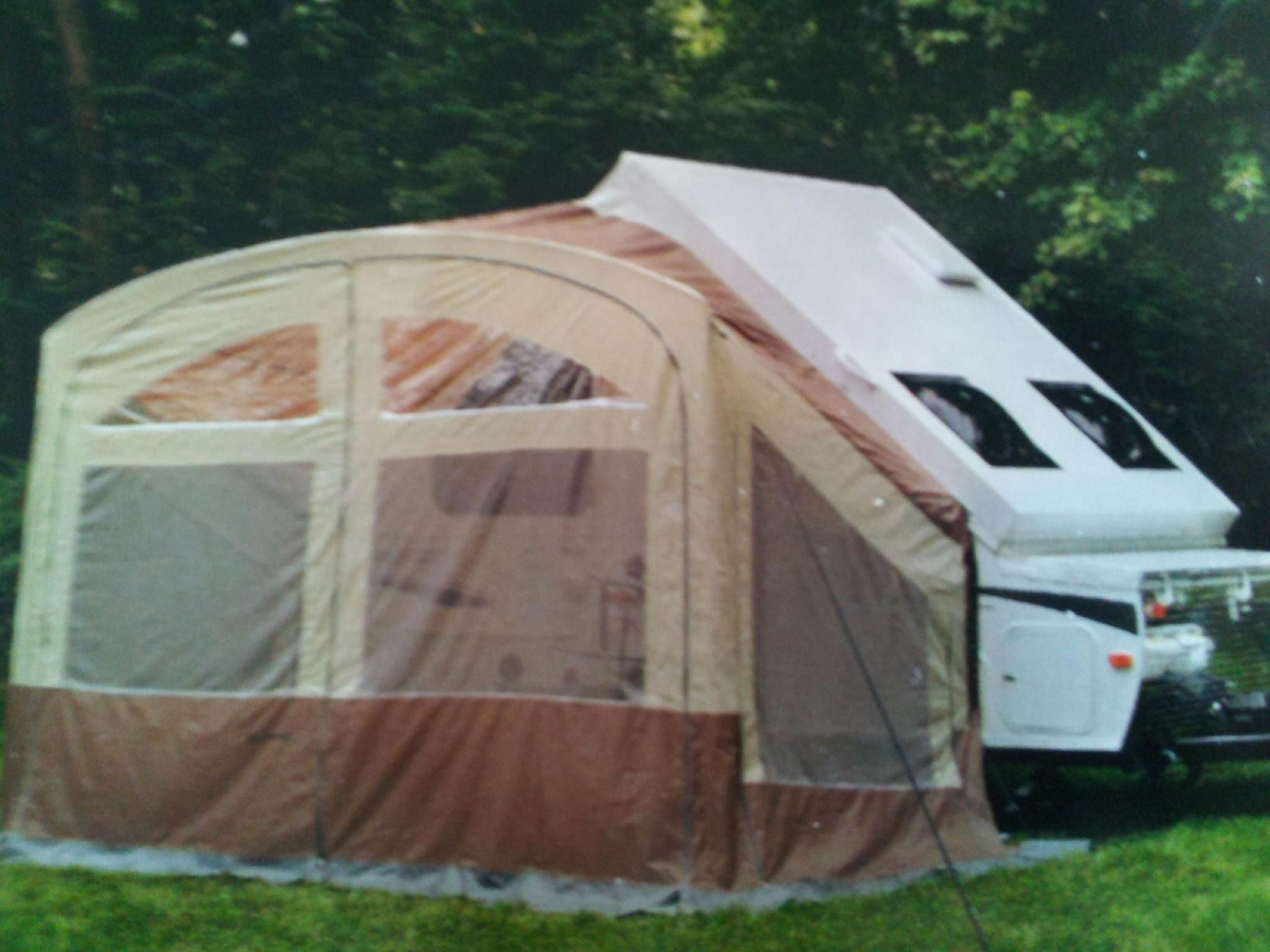 Awning Screen Room On A Forest River A Frame Folding Camp
