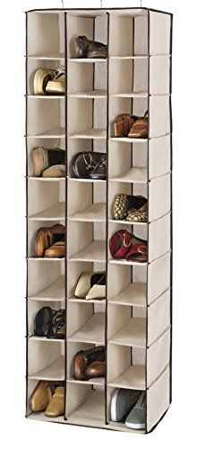 Whitmor 64705132 Fashion Canvas Hanging Shoe Shelves Click Image To Review More Details