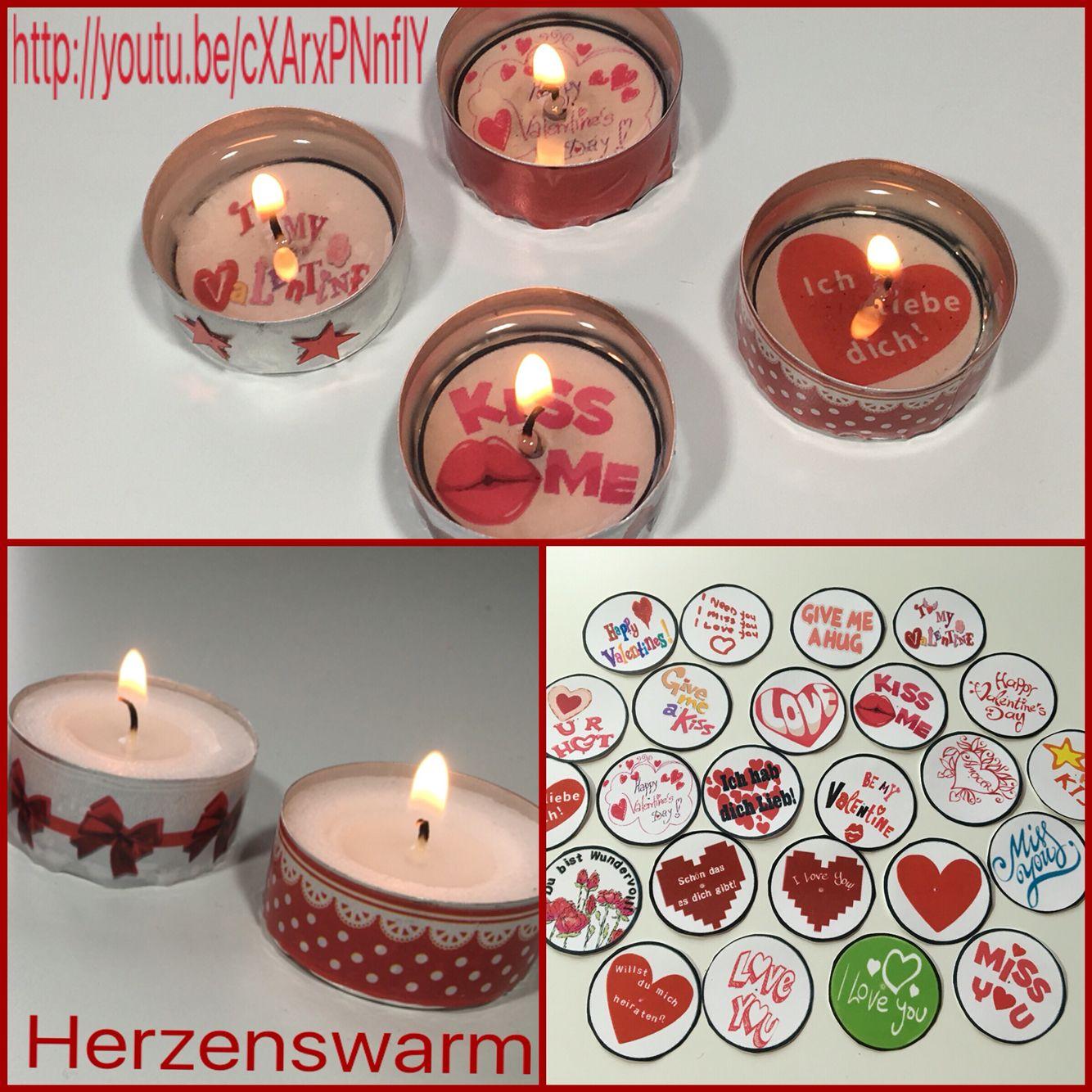 Ich hab neue Glückskerzen Vorlagen für Valentinstag / die Liebe ...