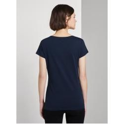 Photo of Tom Tailor Denim Damen Jersey T-Shirt mit Print, blau, Gr.xs Tom TailorTom Tailor