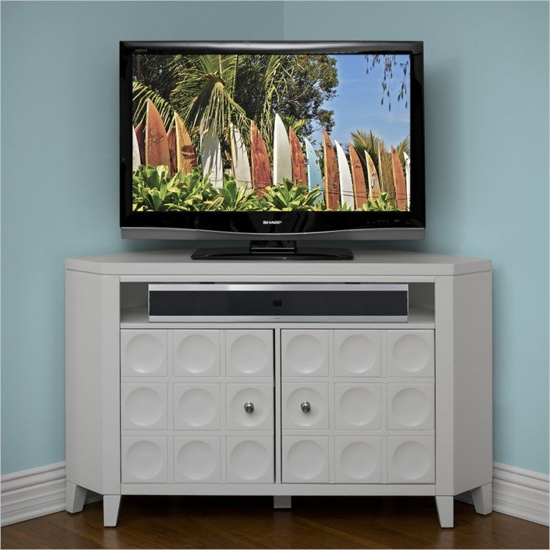 Kathy Ireland by Martin Crescent TV Stand Corner Unit in White ...