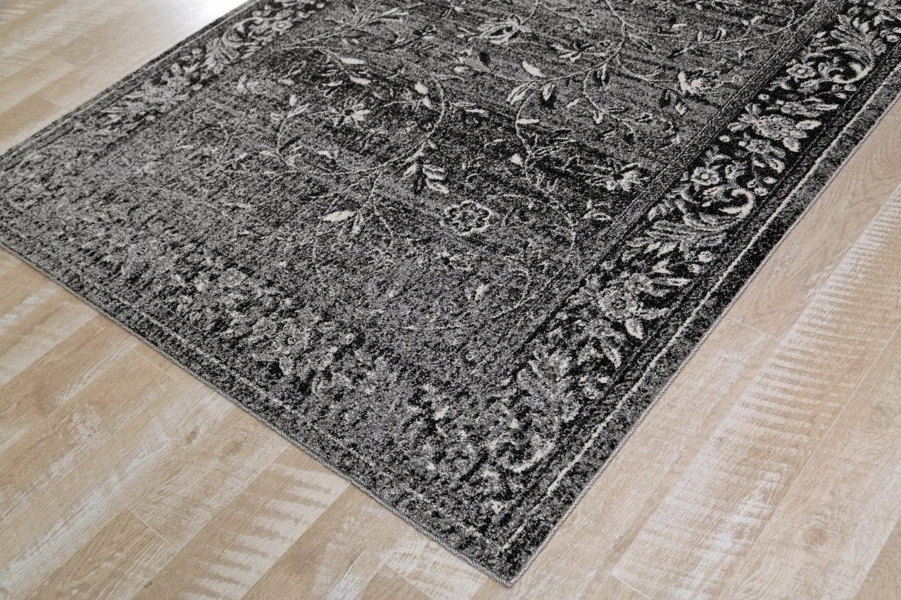1860 Gray Distressed Oriental Area Rugs