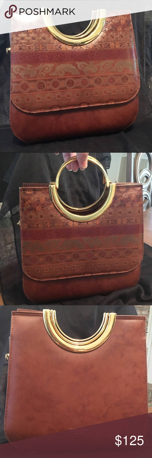 Vera Pelle Italian Brown Leather Handbag Talja Superior This Bag Was