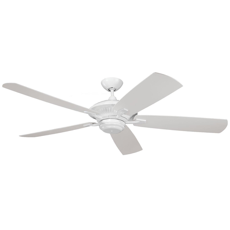 Monte Carlo Cyclone Outdoor White 60 inch Ceiling Fan 60 Cyclone