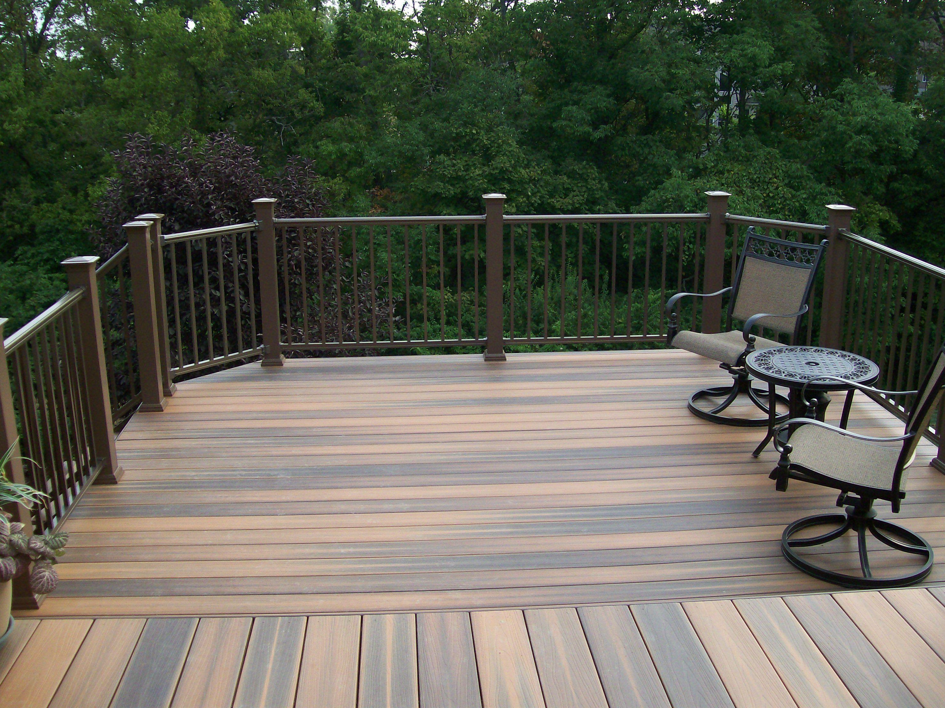 Composite decking decks by design inc usa composite for Plastic garden decking