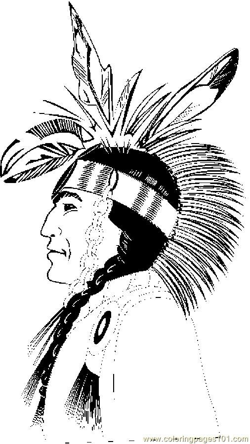 Free Coloring Page Native American Freeprintable Nativeamerican
