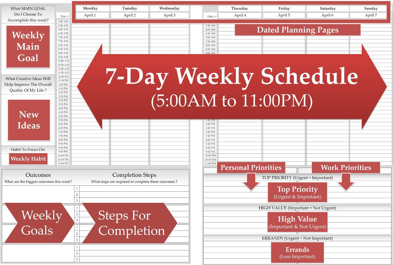 Calendar Year Goals Record : Amazon weekly planner w calendar for