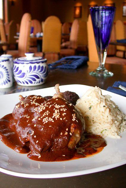 Mole Poblano at Hugo's Restaurant, Houston, Texas