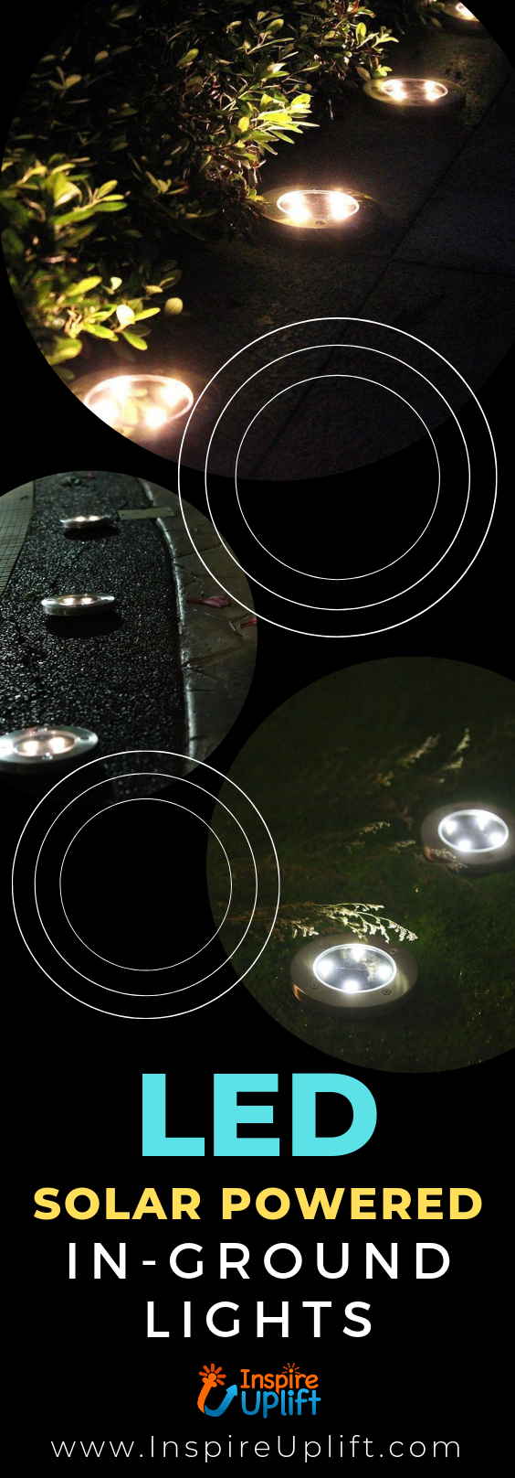 LED Solar Powered In-Ground Lights 😍 InspireUplift.com