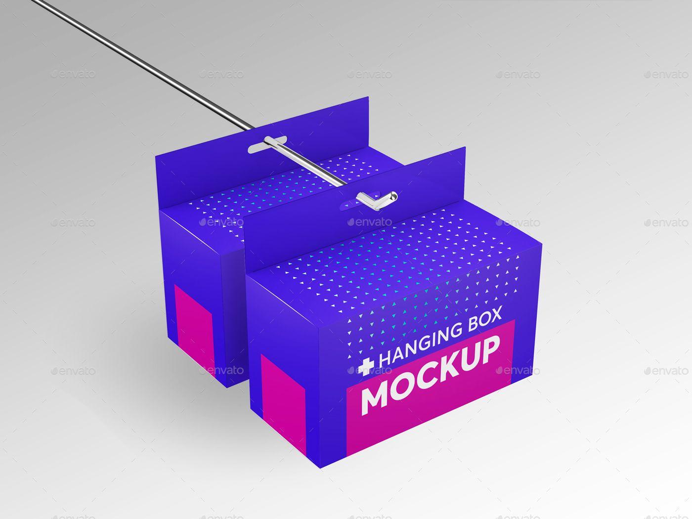 Download Hanging Rectangle Box Mockups V 2 Affiliate Rectangle Spon Hanging Mockups Box Box Mockup Box Packaging Design Packaging Design