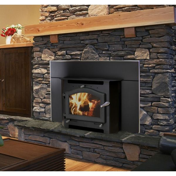 Kuma Sequoia Wood Insert Heats Up To 3500 Sq Ft Wood Burning Fireplace Inserts Wood Stove Fireplace Fireplace Inserts