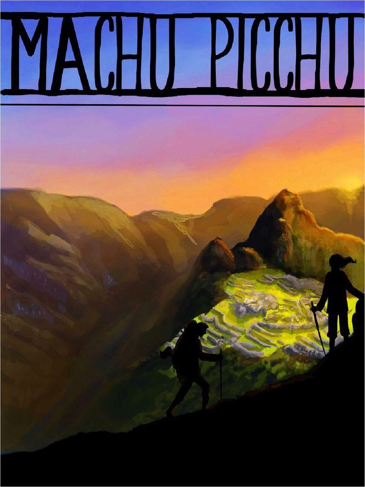 Machu Picchu Inca Cusco Region Peru Vintage Travel Art Poster Advertisement in Posters   eBay