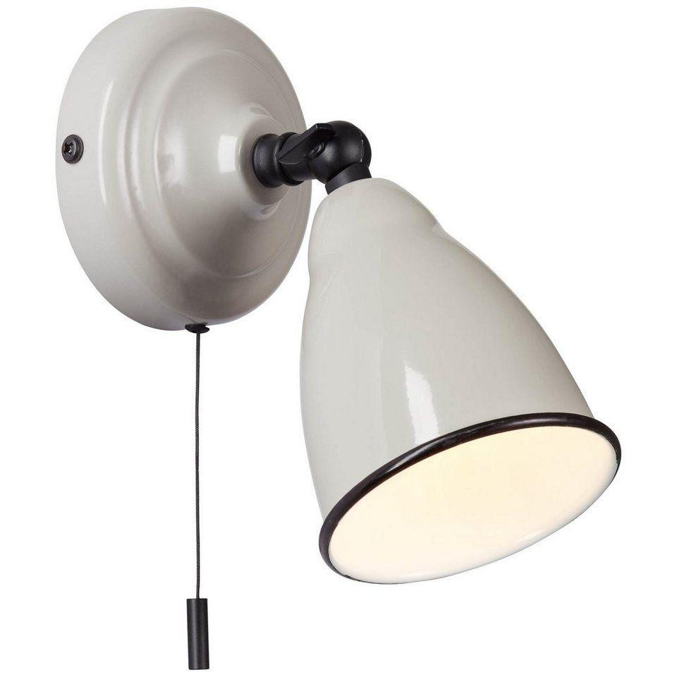 Brilliant Leuchten Telio Wandleuchte 16cm Zugschalter Grau Taupe