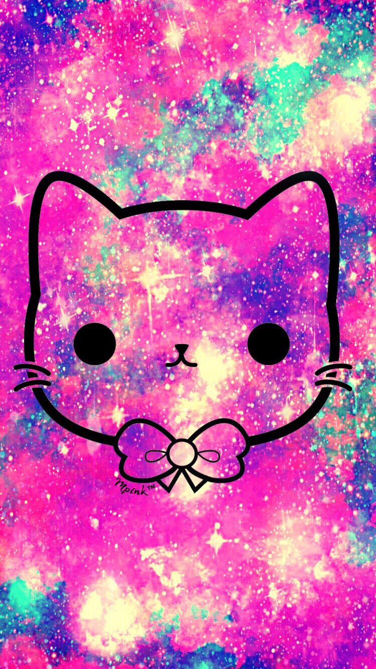 Cute Pink Kawaii Kitty Wallpaper androidwallpaper