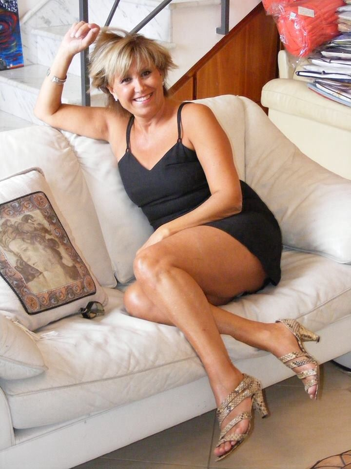 Mature women in satin slips