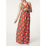 Dorothy Perkins Orange floral lace insert maxi dress- at Debenhams.com