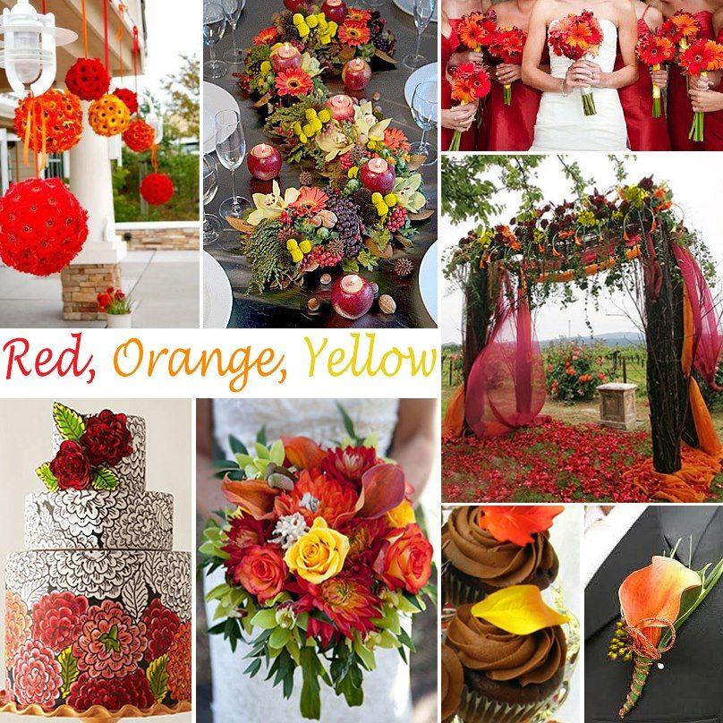 Red Orange Yellow Wedding Ideas