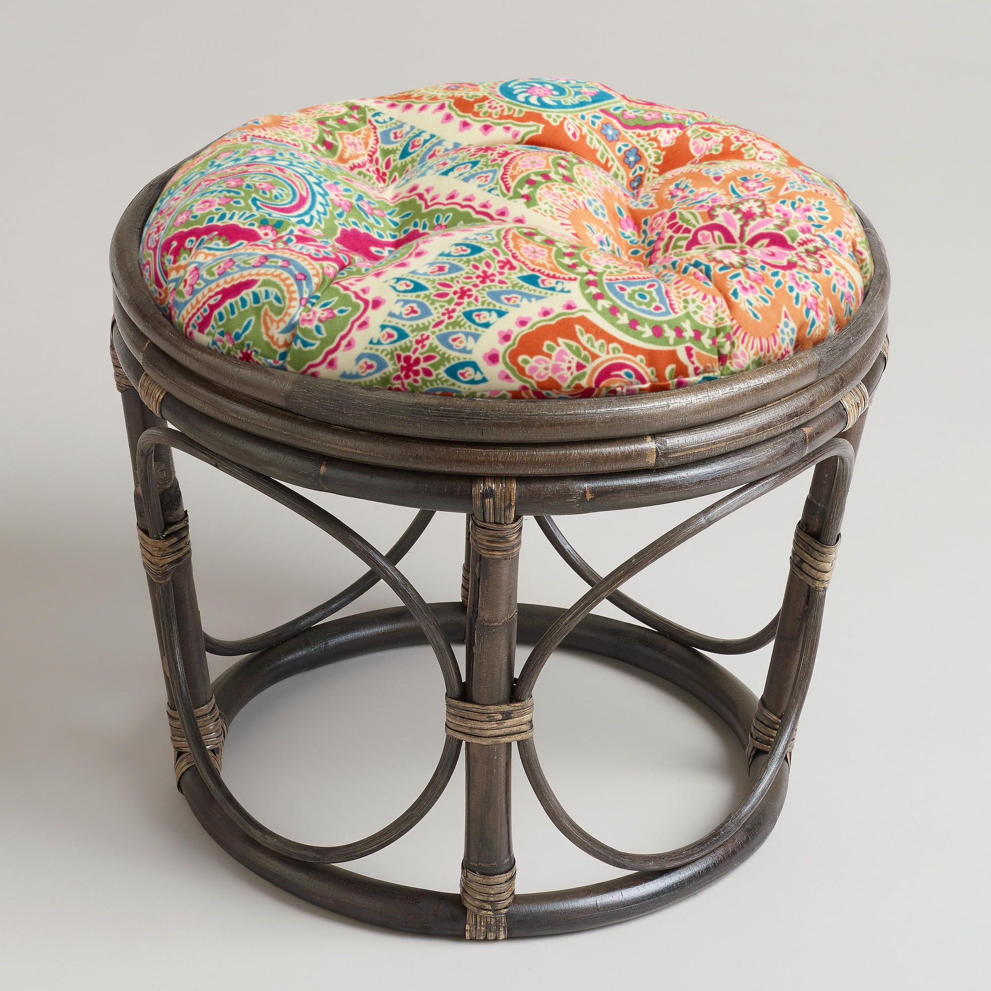 Venice Papasan Stool Cushion By World Market Found On Heartthis Com Heartthis Stool Cushion Papasan Chair Cushion Papasan