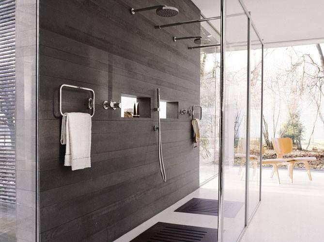 Douche italienne interior in bathroom bath