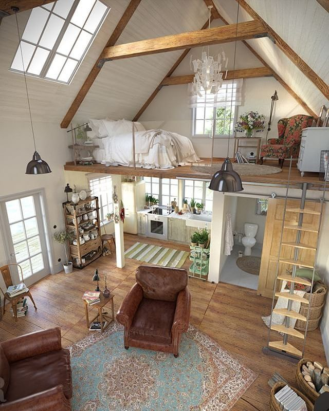 Loft Visualization By Olga Redina Tiny House Living