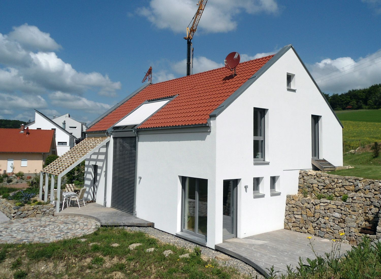 Einfamilienhaus Modern Holzhaus Satteldach Galerie Holzterasse .
