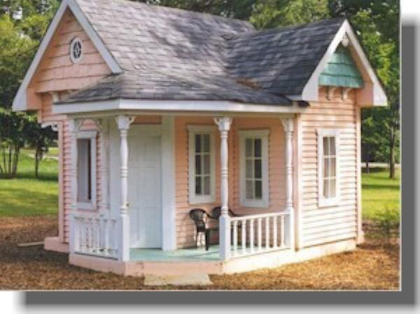 DIY Shed Log Cabin Summer Play House Barn Garage Plans – Playhouse With Garage Plans