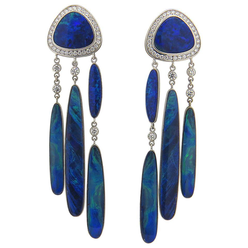 06f540705433 Impressive Jorge Adeler Gold Black Opal Diamond Earrings