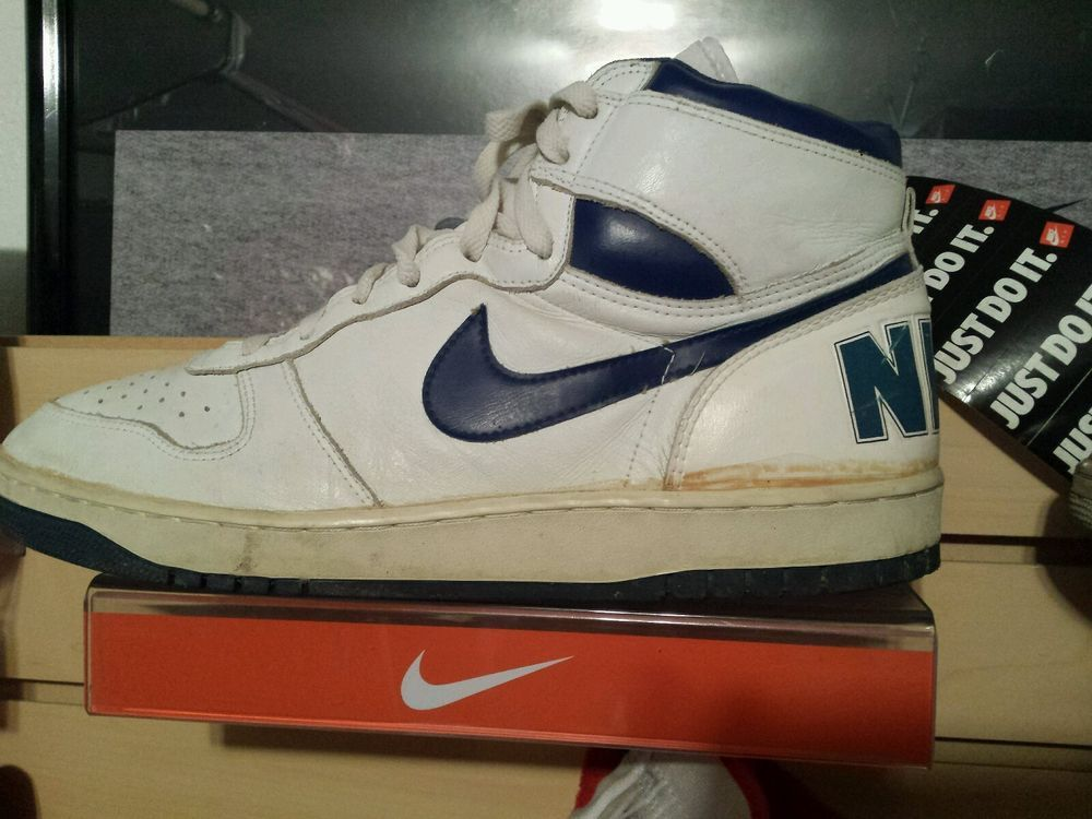 VTG OG 1986 Nike Big White Royal size 13 Terminator Jordan Air #Nike  #AthleticSneakers