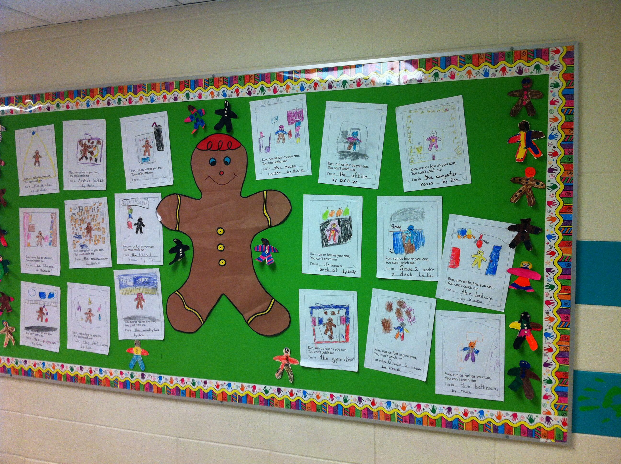 Kindergarten Gingerbread Activity Students Decorate