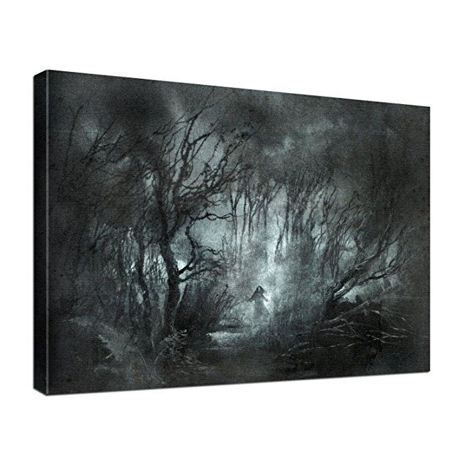 leinwand bild edel gothic fantasy dark night größe 60 x 40