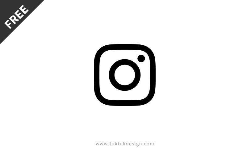New Instagram icon symbol free vector image TukTuk