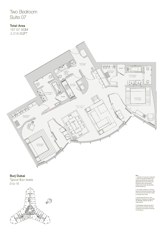 Armani Hotel Floor Plans Burj Khalifa Dubai
