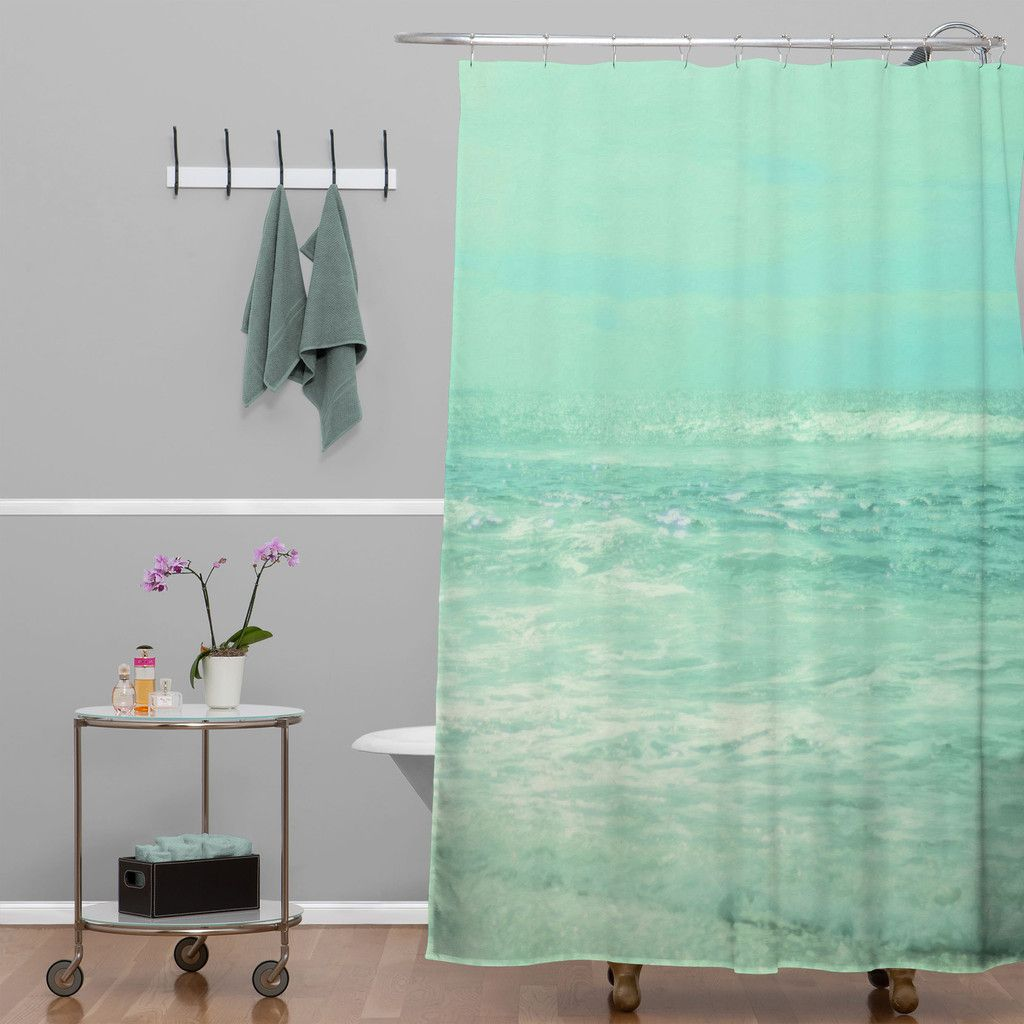 Lisa Argyropoulos Where Ocean Meets Sky Shower Curtain
