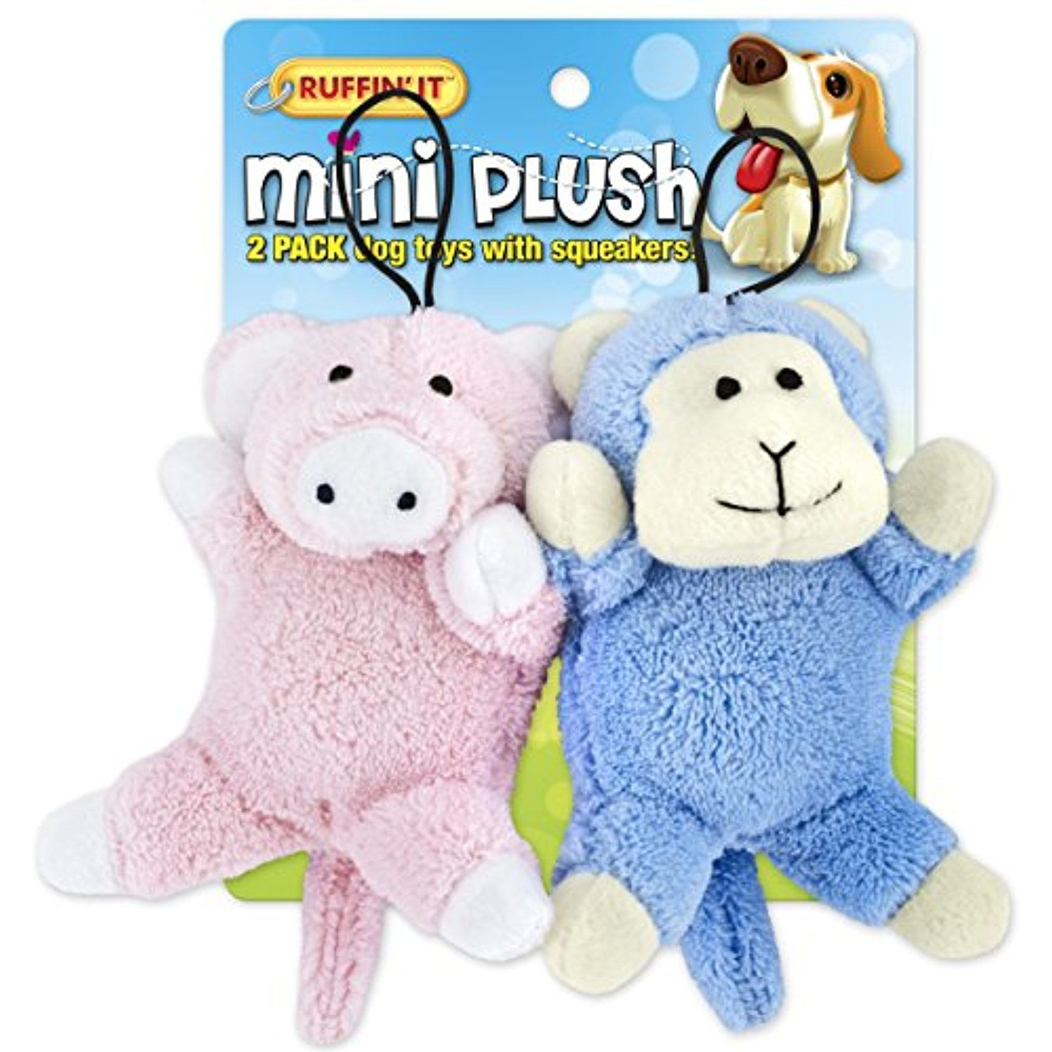 Mini Plush 2pk Puppy Toys Pig And Monkey More Info Could Be