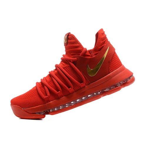 58998c535ef Soldes Nike KD 10 Rouge Homme Chaussure De Basket in 2019