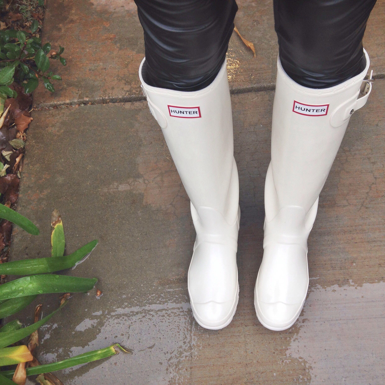 White Hunter Rain Boots | Shoe Obsession | Pinterest | Rain boot ...
