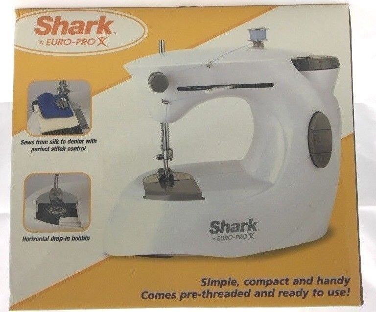Shark Euro Pro Sewing Machine Portable Compact Model 40A Foot Pedal Simple Euro Pro Denim And Silk Sewing Machine