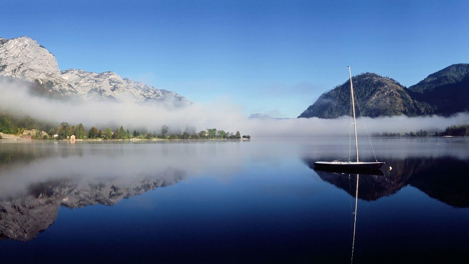 Mountain Reflection In Water HD desktop wallpaper Widescreen