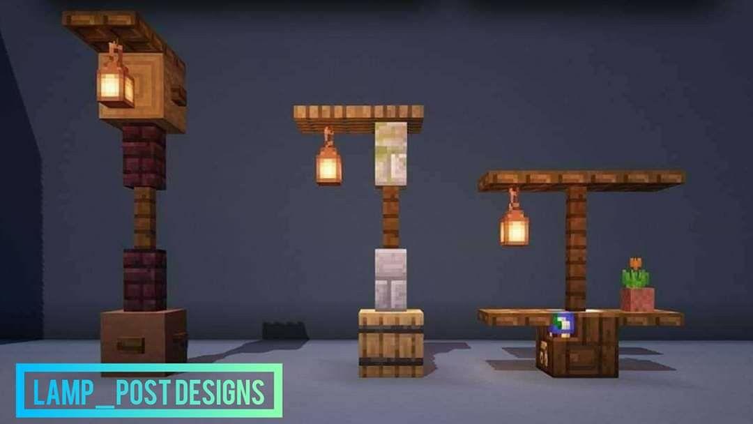 Minecraft Lamp In 2020 Minecraft Light Minecraft Decorations Minecraft Architecture
