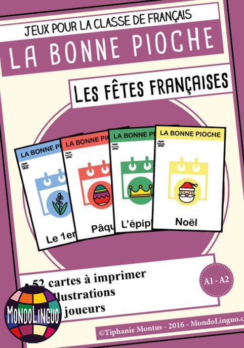 Jeu de cartes FLE : Bonne Pioche sur les fêtes françaises ...
